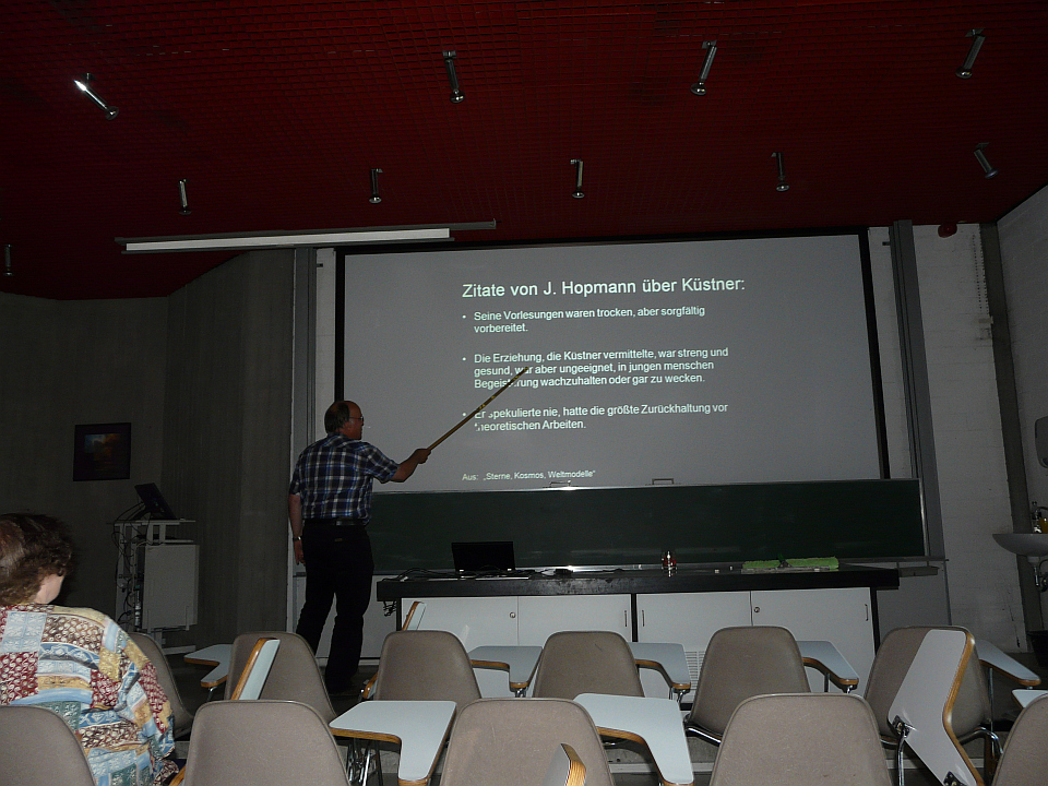 Michael Geffert beim Vortrag
