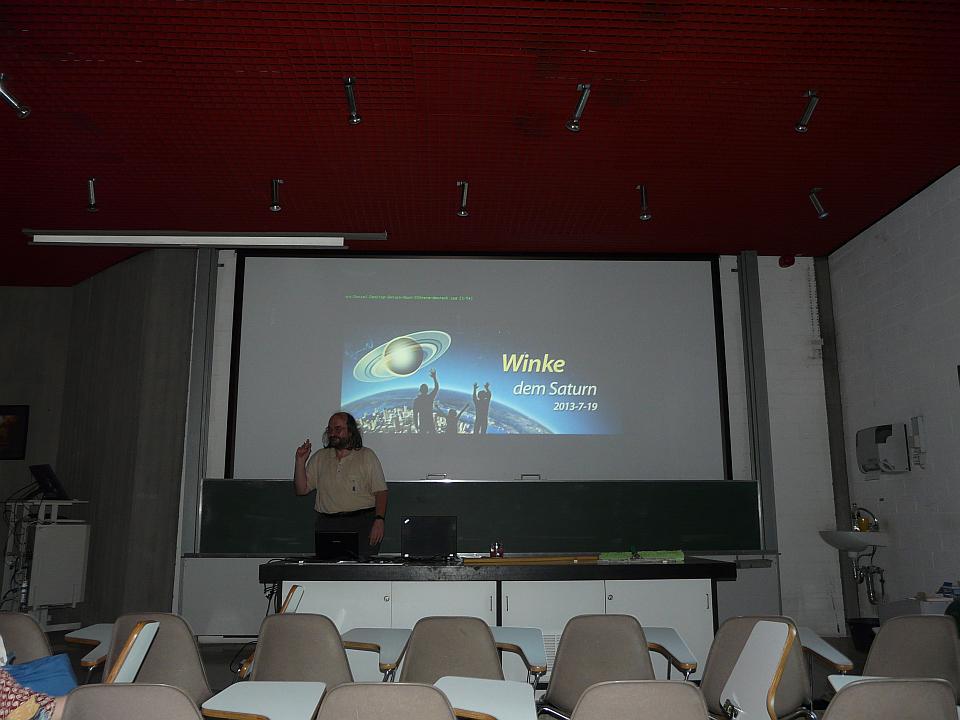 Daniel Fischer beim Vortrag