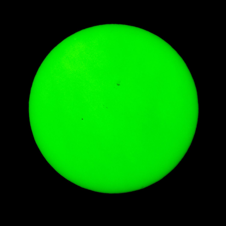 Merkurtransit vom 09.05.2016, Aufnahme mit einem Filter bei rd. 535 nm