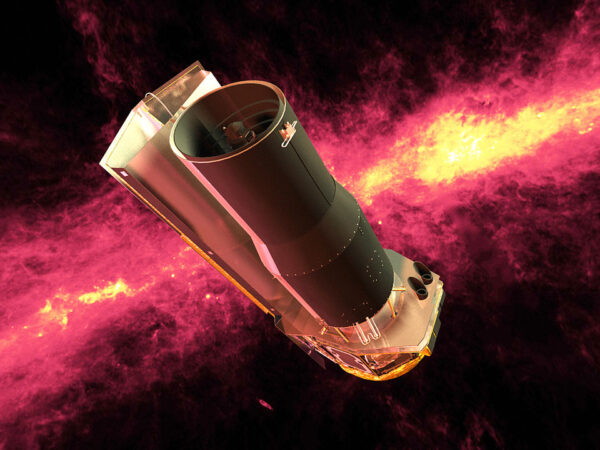 Illustration des Spitzer Infrarotsatelliten