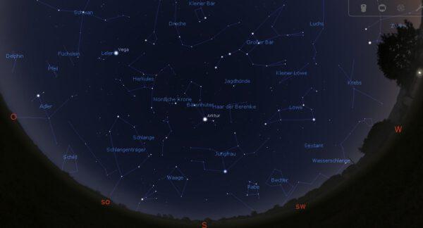 Bonner Abendhimmel am 1. Juni 2021