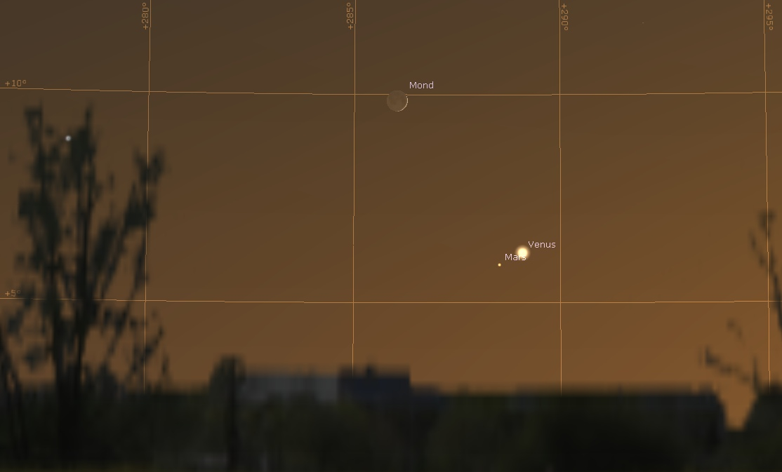 Venus, Mars Mond 12. Juli 2021