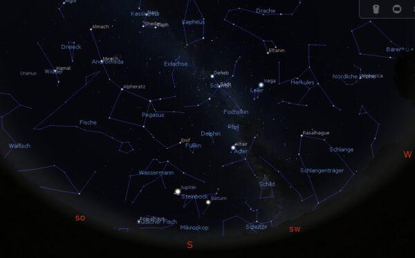 Bonner Abendhimmel am 1.10.2021